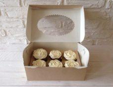 Коробка для капкейков (6 ложементов) с окном