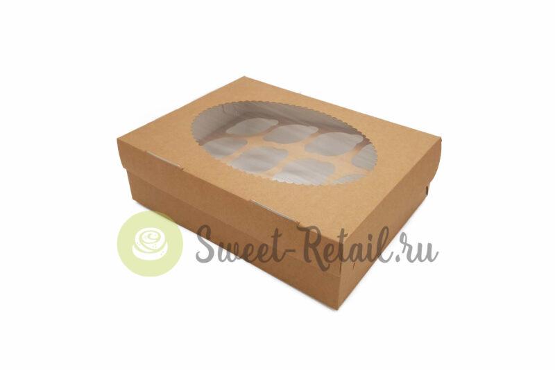 36 800x534 - Коробка на 12 капкейкoв (крафт) с окном