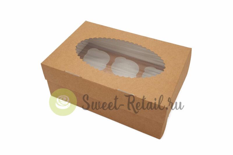 49 800x534 - Коробка на 6 капкейкoв (крафт) с окном