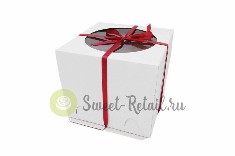 Коробка для торта 24*24*22 см с окном