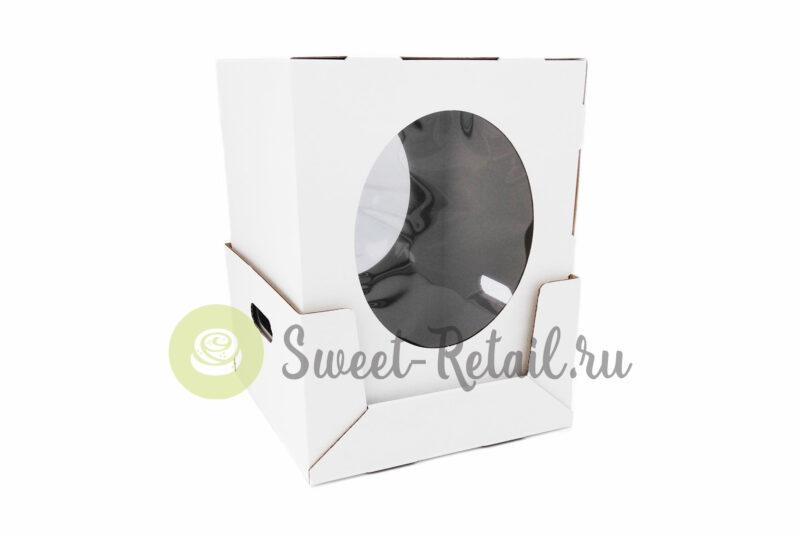 Коробка 30-30-45 с окном для торта