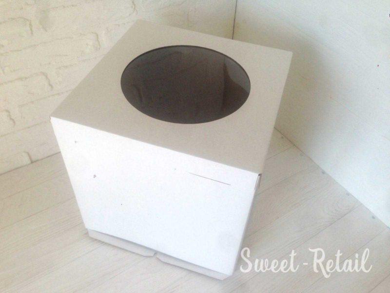 Коробка для торта 30см-30 см-30 см с окном