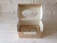 Коробка для капкейков (2 ложемента) с окном