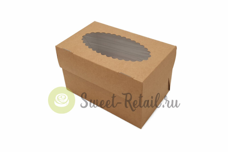 41 800x534 - Коробка на 2 капкейка (крафт) с окном