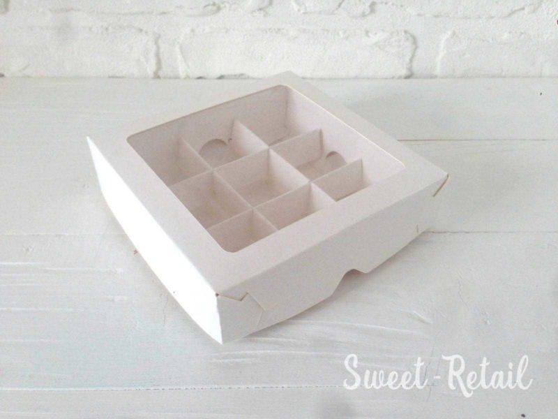 Коробка под конфеты 16 штук с окном в Красноярске