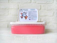 Ярко-розовая мастика сладкий шёлк