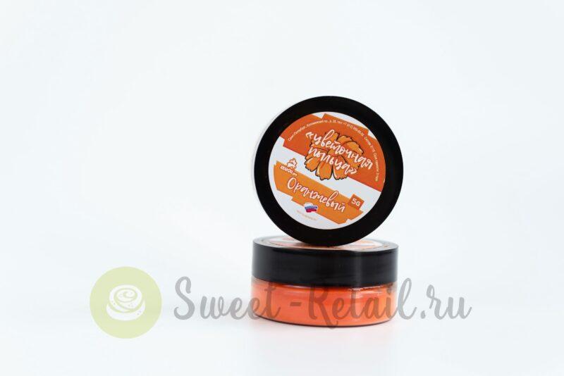 Цветочная пыльца оранжевого цвета