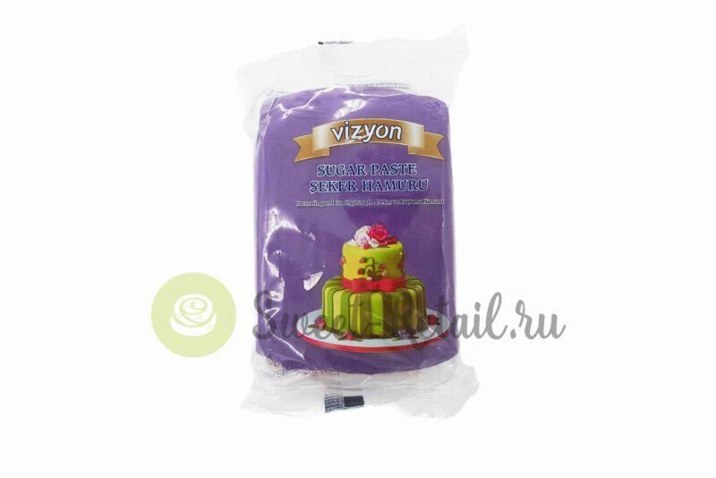 Темно-фиолетовое сахарное тесто (мастика) VIZYON, 500 гр.