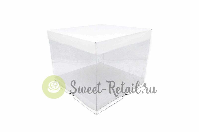 Коробка для торта прозрачная 25-25-20