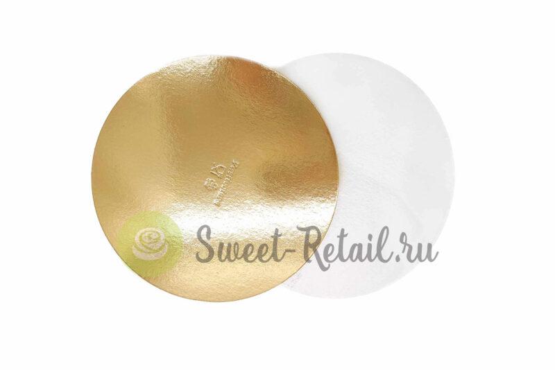 Подложка усиленная золото/жемчуг D 22 см T 1,5 мм