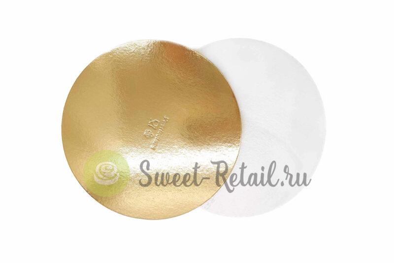 Подложка усиленная золото/жемчуг D 24 см T 1,5 мм