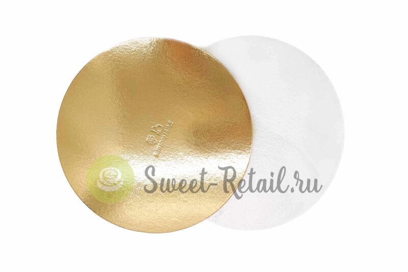 Подложка усиленная золото/жемчуг D 28 см T 1,5 мм