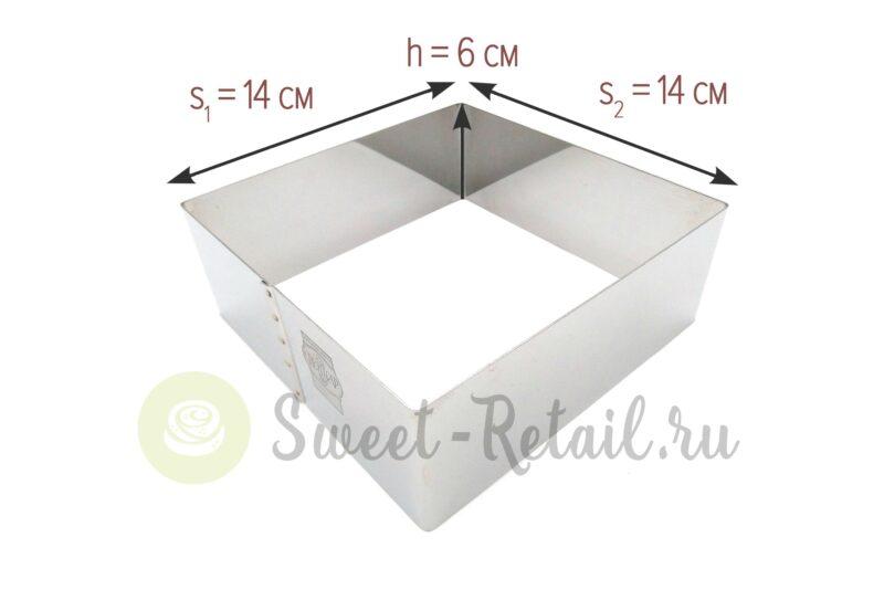 Квадратная форма 14*14 см