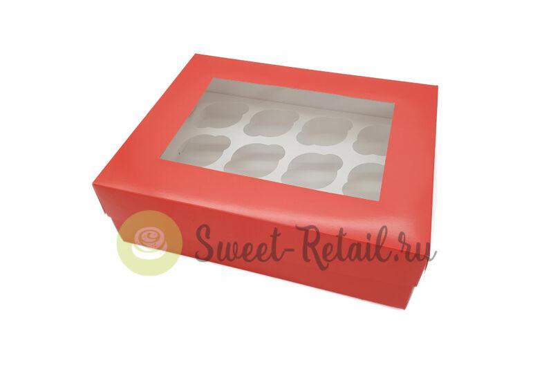 73 800x534 - Коробка на 12 капкейкoв (красная) с окном