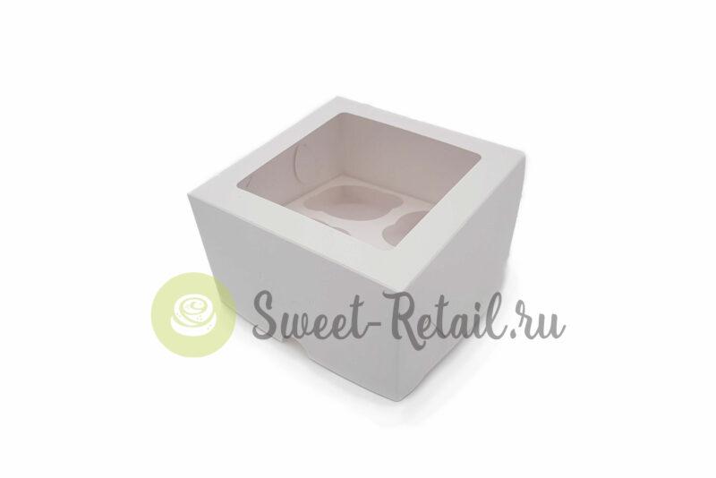 103 800x534 - Коробка на 4 капкейка (белая) с окном