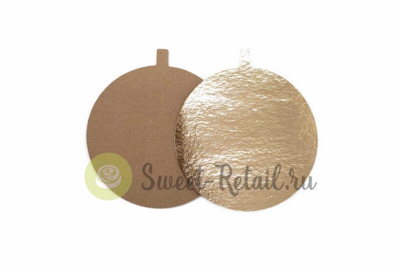Подложка 12 см. 0,8 мм золото, 100 шт.
