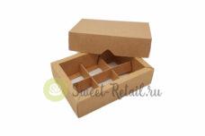 Коробка для конфет на 6 ячеек (без окна)