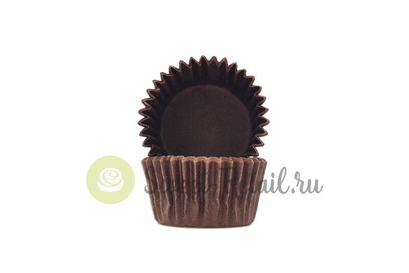 Капсула бумажная коричневая для конфет 30*18 (мм)